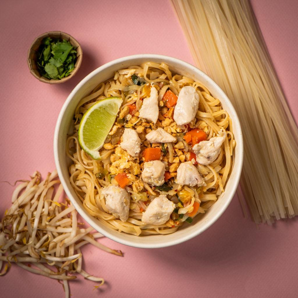 Thaise wokschotel met kip
