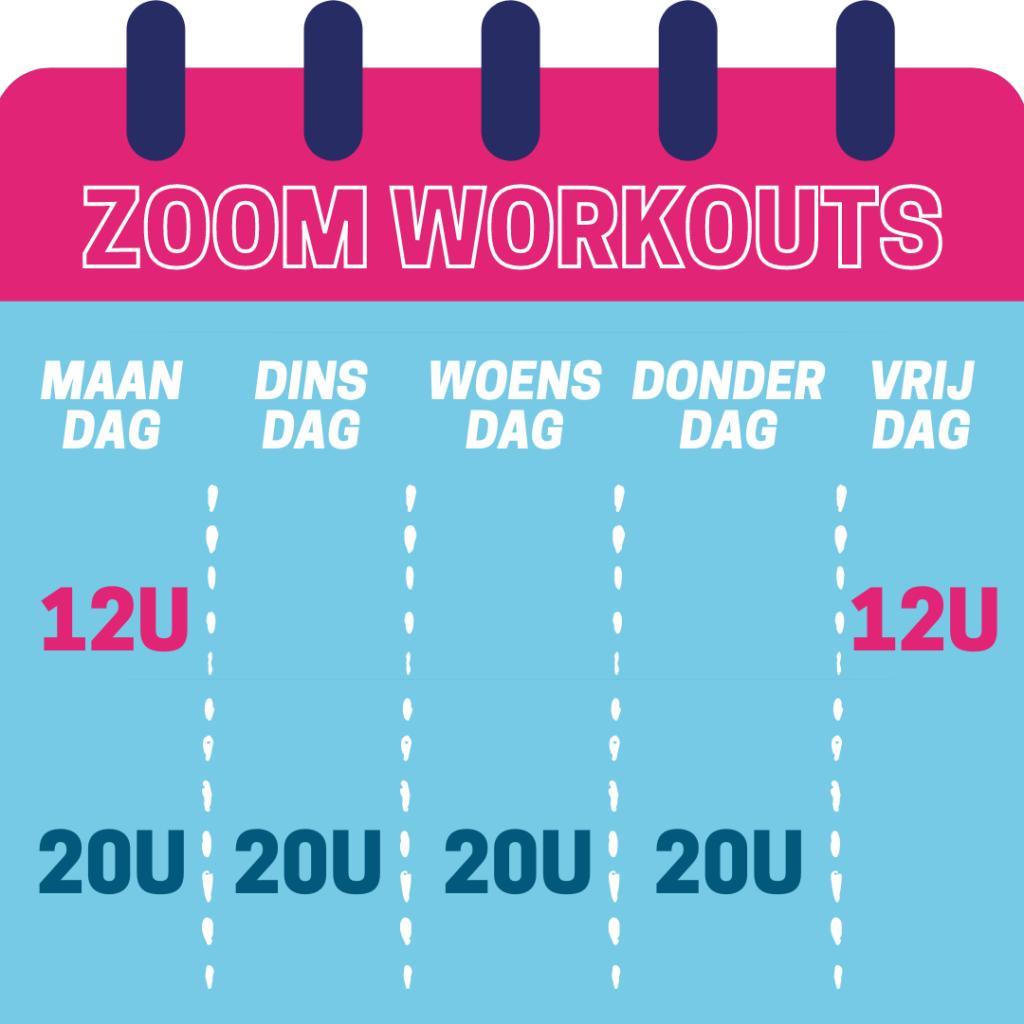 Zoom workouts vanaf 4 januari