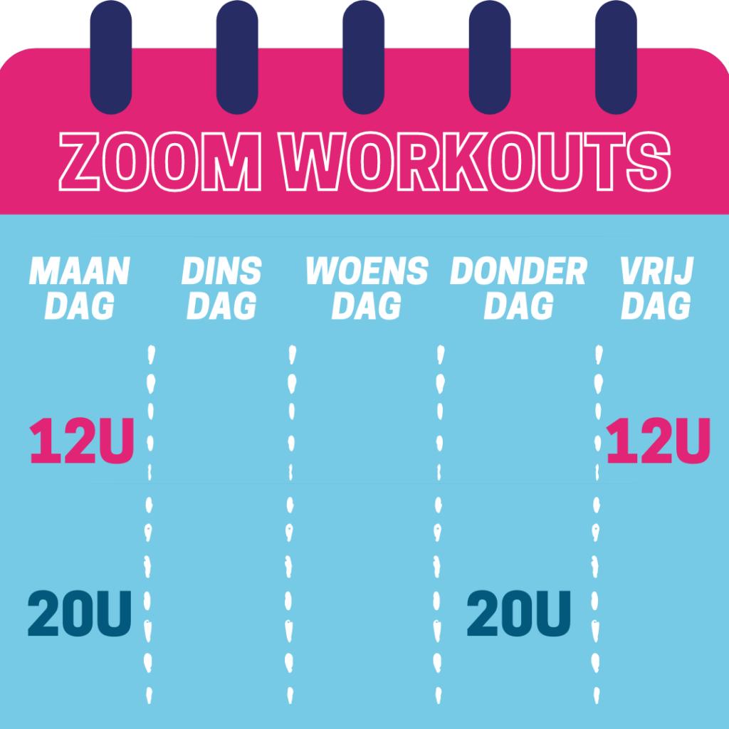Zoom workouts vanaf 29 maart